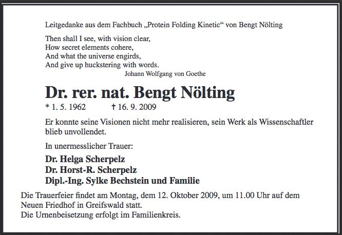 Noelting-Todesanzeige
